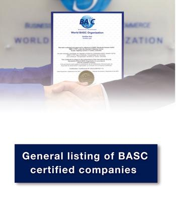 General listing of BASC certified companies