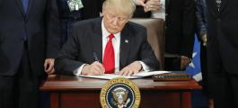 Trump signed executive orders referring to the enhancement of the skills for the border management and executive mission