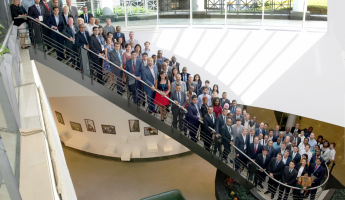 Group of participants to the 7th Knowledge Academy for Customs and Trade at the headquarters of World Customs Organization in Brussels, Belgium.