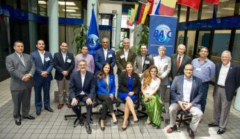 Presidents of BASC National and Regional Chapters and special guests at the WBO headquarters building in Miami.