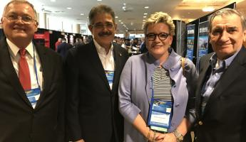 John Mein, Executive Director of PROCOMEX, Fermin Cuza, International President of WBO, Liz Schmelzinger, Director of C-TPAT and Fernando Duque, Executive Director of WBO.